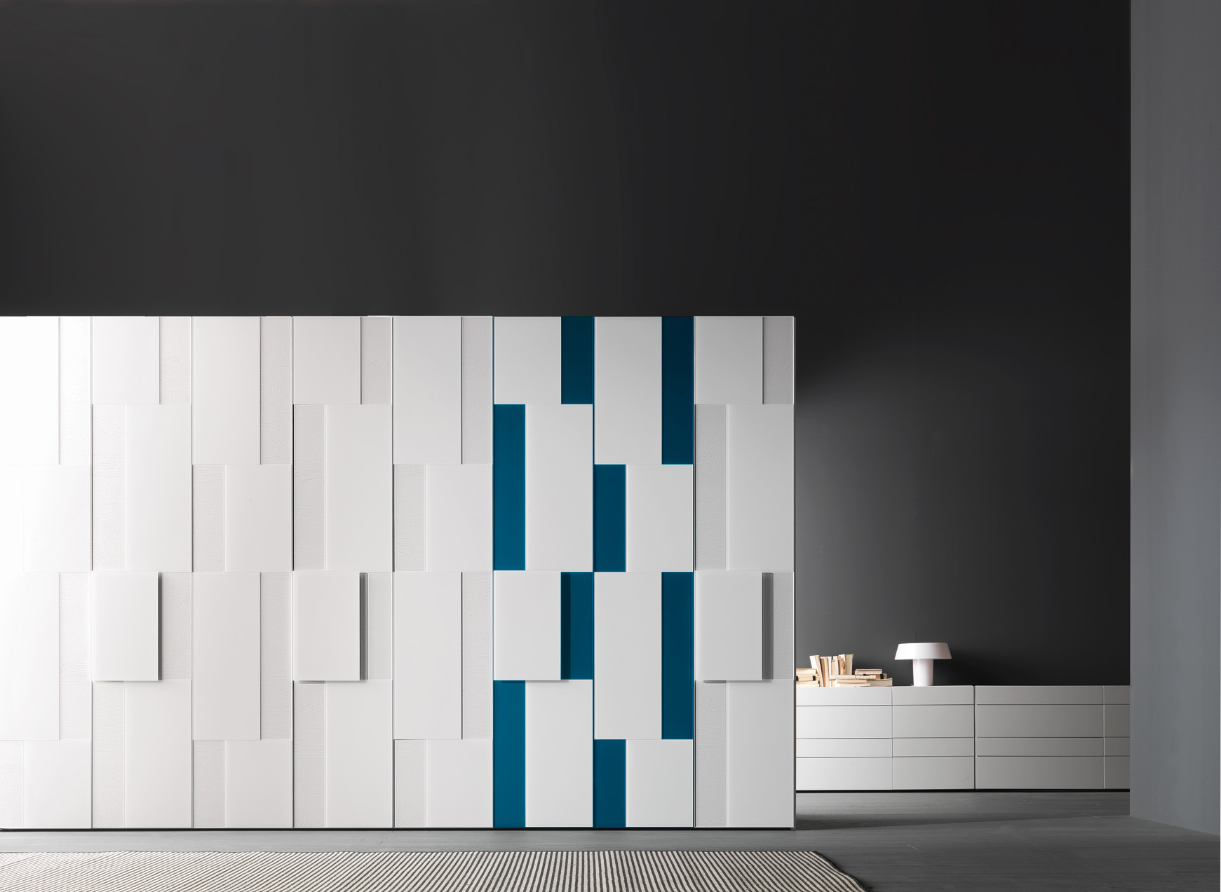 Italian designer built in wardrobes step for Presotto armadio
